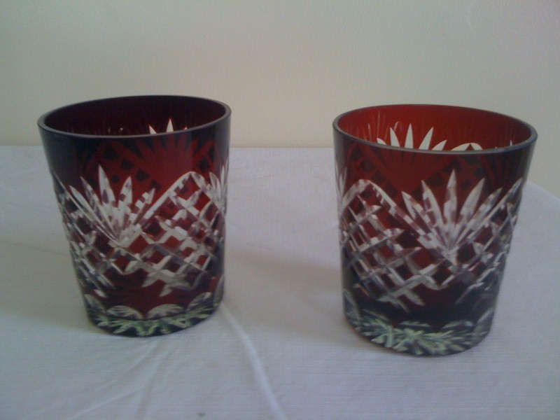 Burgundy Crystal Rocks Glasses (2)