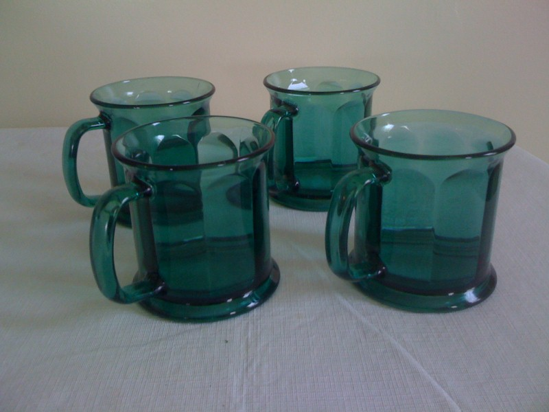 Green Coffee Mugs (4)