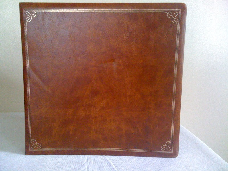 Saddle Brown Vinyl Scrapbook Cover